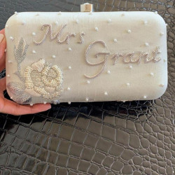 Customized Clutch With Pearls (Delivery time 3-4 Weeks)