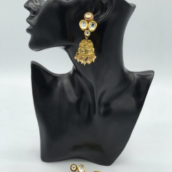 Rose Jhumki Earrings