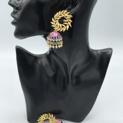 Swirl Jhumki Earrings