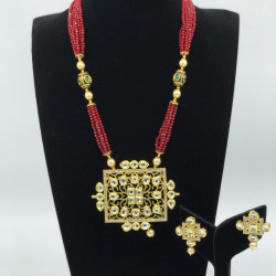 Red Filigree Set
