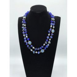 Gleaming Blue Two Layer String