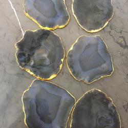 Grey Agate Coasters 6 Pieces