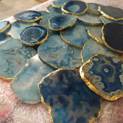 Blue Agate Coasters 6 Pieces